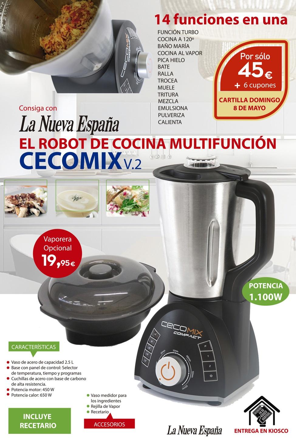Robot de cocina multifunci n cecomix v 2 promociones la for Robot de cocina multifuncion